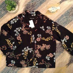Sakura Vines Colorful Quilted Jacket